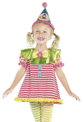 Smiffys Kids Circus Clown Outfit Girls Toddler Halloween Costume