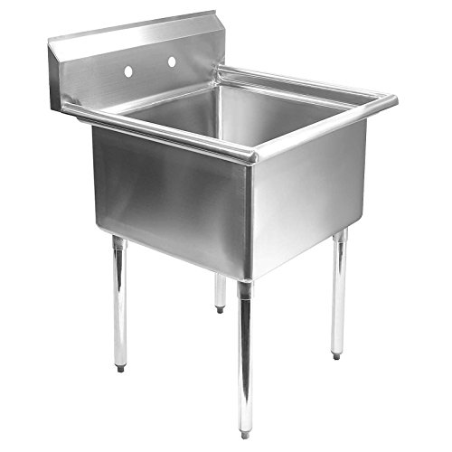 Commercial Kitchen Sink Drain Parts : Commercial Stainless Steel Kitchen Utility Sink - 24