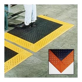 WEARWELL Comfort Deck Mats - Black/orange