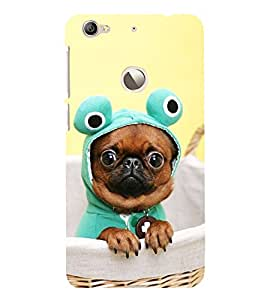 Vizagbeats French Bull Dog Back Case Cover for Le TV Le 1s