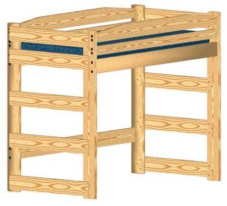 Loft Bed Woodworking Plan (Not A Bed) To Build Your Own Twin-Size Standard Loft front-1063609
