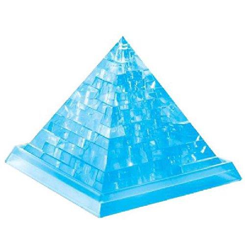 【2点セット】光る 3D 立体 パスル ブルー ピラミッド + ミニ ハート 立体 ストラップ