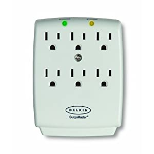 Belkin F9H601aCW Wall Mount Surge Protector (White)