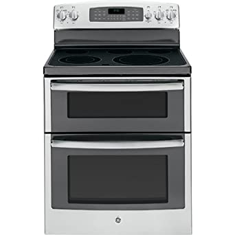 """GE JB850SFSS 30"""" Stainless Steel Electric Smoothtop Double Oven Range"""
