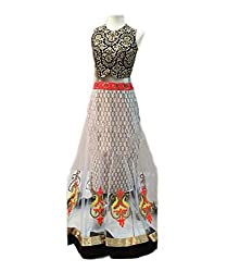 Isha Enterprise Net Lehenga Choli(KFP-16_White)
