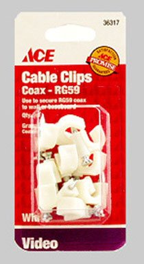 Cd/10: Ace Nail-In Rg59 Coax Cable Clips (36317) [Misc.]