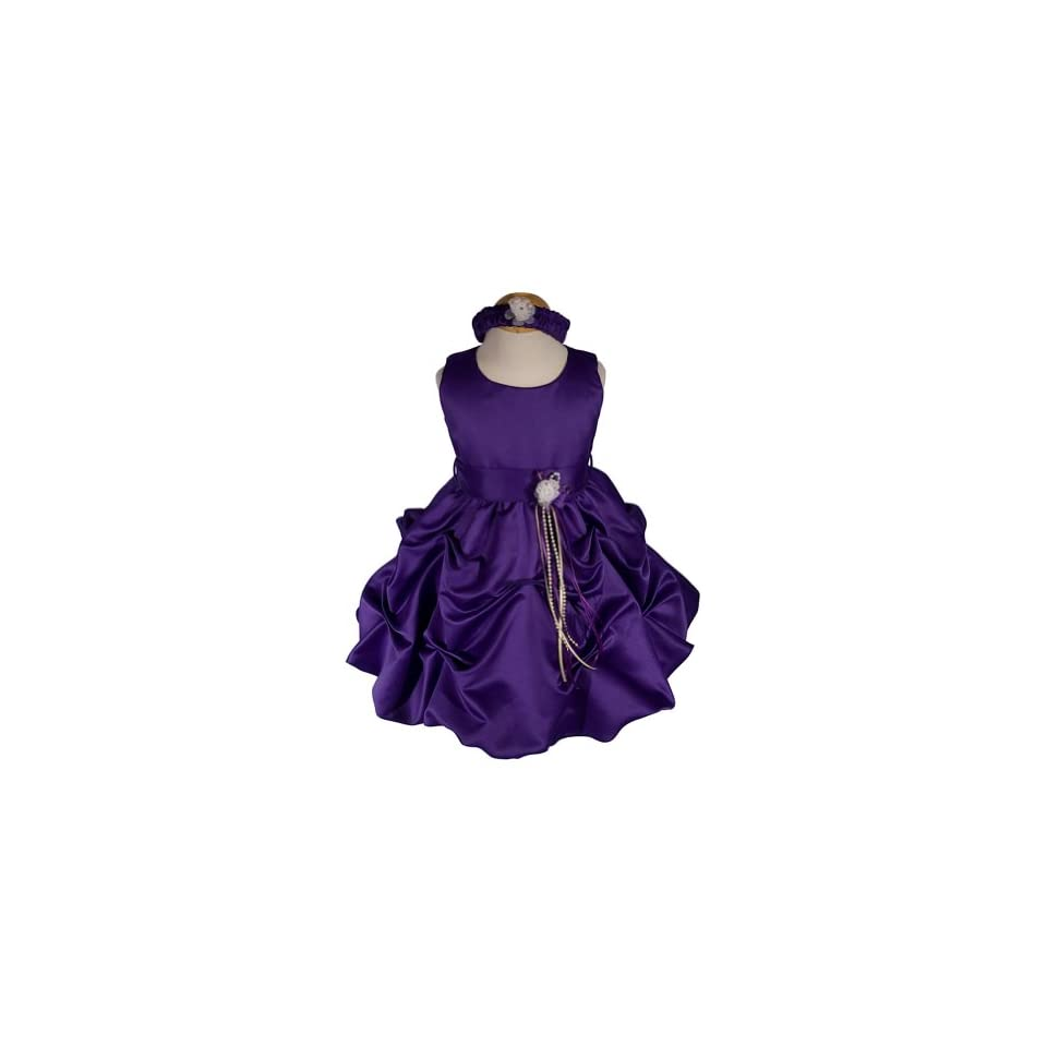 AMJ Dresses Inc Baby girls Purple Flower Girl Party Dress Sizes S to 4t Clothing