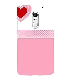 Love Heart Design 3D Hard Polycarbonate Designer Back Case Cover for Lenovo Vibe X3