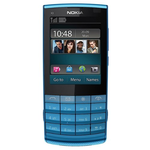 nokia x3 camera quality. Nokia X3-02 Touch Blue Mobile