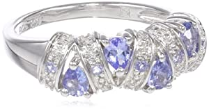 Sterling Silver Tanzanite Ring, Size 7