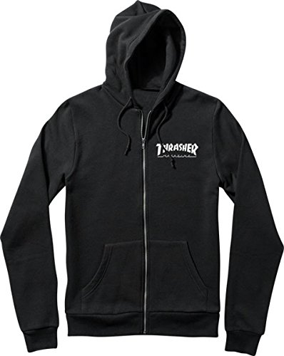 Thrasher Skate Mag Black Small Zip Hooded Sweatshirt thrasher бейсболка thrasher skategoat mesh black grey