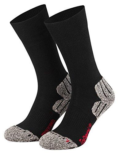 Tobeni 2 paia di high-tech di trekking calze tecniche per uomini e donne, Color:Black;Size:UK 2-5 / EU 35-38