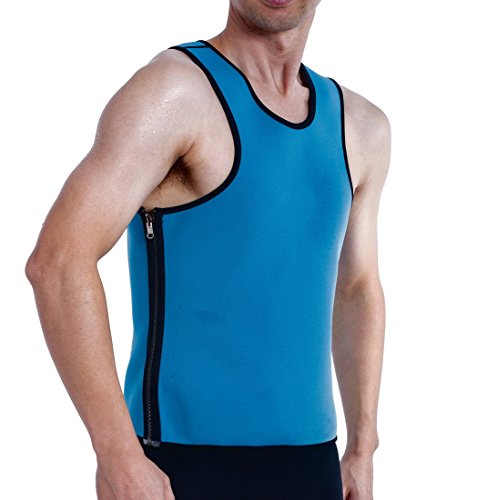 ValentinA Mens Slimming Sweat Vest Hot Neoprene Sauna Body Shapers for Weight Loss