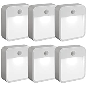 Mr. Beams Mr Beams MB726 Battery Powered Motion Sensing LED Nightlight, White, 6-Pack at Sears.com
