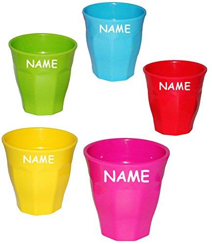 3-Stck--Trinkbecher-Becher-Waffeloptik-NEON-BUNT-incl-Name-250-ml-auch-als-Zahnputzbecher-Malbecher-aus-Melamin-Tasse-Kunststoff-Plastik-Kindertasse-Kinderbecher-Partybecher-Trinklerntasse-Trinkglas-K