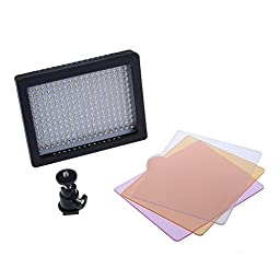Bestlight® Professional 216 LED Dimmable Ultra High Power Panel Digital Camera / Camcorder Video Light W216 With 216pcs Lamps, LED Light for Canon, Nikon, Pentax, Panasonic,SONY, Samsung and Olympus Digital SLR Cameras