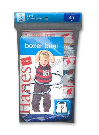 Hanes Toddler Boys Fashion Boxer Brief 3 Pack