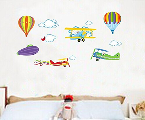 Home Wall Decor Decals Poster House Wall Stickers Quotes Removable Vinyl Large Wall Sticker For Kids Rooms Stickers Hot Air Balloon W-467 front-885622