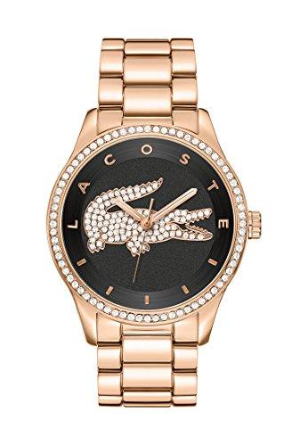 Lacoste Damen-Armbanduhr Victoria Analog Quarz (One Size, schwarz)