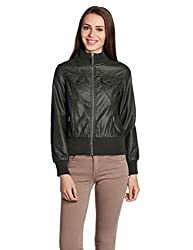 US Polo Womens Cotton Jacket (UWJK0090_Olive_L)