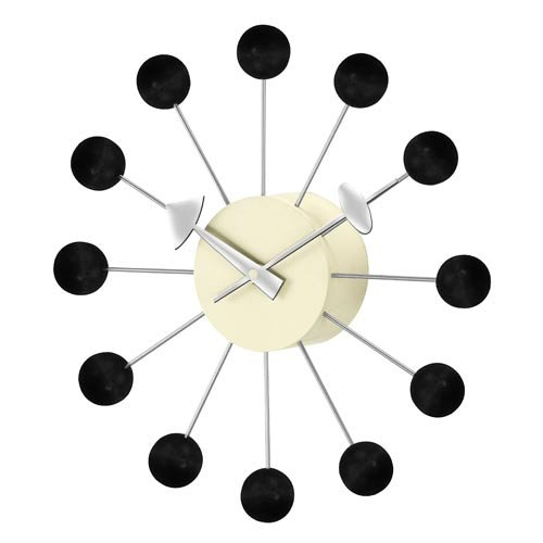 George Nelson Black Ball 13-in. Wall Clock