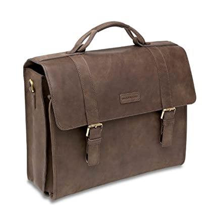 Hartmann Leather Business Cases Hudson Slim Brief