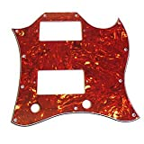 Music Maker 3 Ply Replacement Tortoloid Sg Standard Scratchplate/Pickguard Full Style