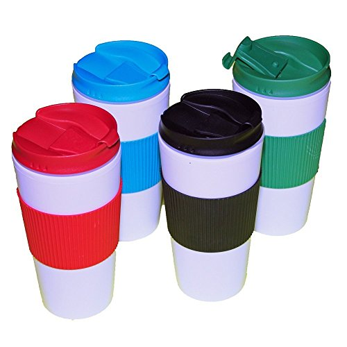 Reusable-Travel-Mug-Hot-Cold-Non-Slip-Grip-Screw-Lid-Flip-Open-Cap-Prevents-Leaks-and-Spills-comes-4-in-a-Pack-assorted-colors