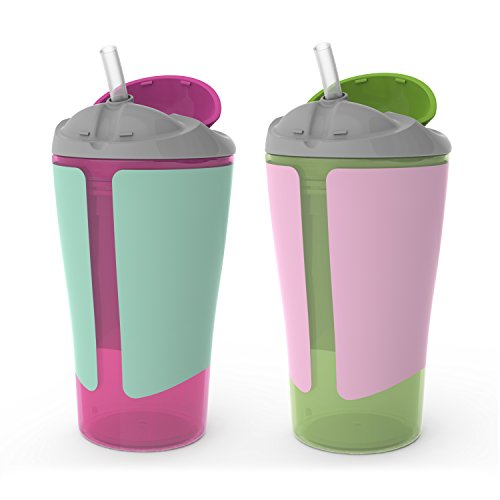 BPA-Free Grow with Me 10 oz. Straw Cup,2 Count, Girl - 1