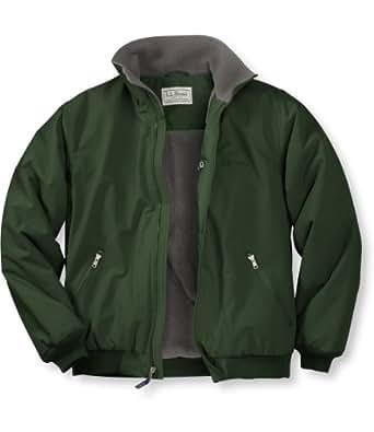 L.L.Bean Men's Warm-Up Jacket, Fleece Lined Green X-Large ...