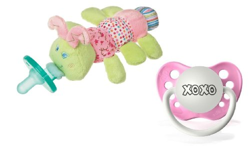 "Wubbanub Cutsie Caterpillar Infant Pacifier With Bonus ""Xoxo"" Pacifier"