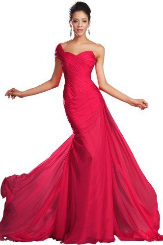 eDressit Nuevo Maravilloso Rojo Solo Hombro Vestido de Fiesta Largo (00132102) Talla 40(Pecho:88.9 Cintura:68.58 Cadera:99.06cm£©