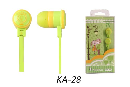 "Keeka ""Melody Fair"" Lovely Cartoon Color Stereo Headphones - Yellow (Ka-28-5)"
