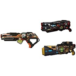 Wowwee Special Edition Multiplayer Laser Tag Combo Set for One to Three Players - Comes with Three Light Strike Assault Strikers and Three Simple Targets - Red, Yellow, & Orange