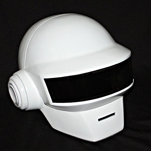 Halloween Costume Daft Punk Helmet Thomas Bangalter Mask + GLOVE white MA176