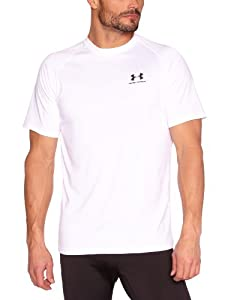 Under Armour Herren Shirt New EU Tech Short Sleeve Tee, White/Black, L, 1229078-100