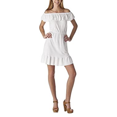 Product Image Mossimo Supply Co. Juniors Off the Shoulder Dress - True White
