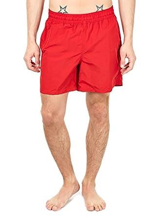 Polo Ralph Lauren Homme Hawaiian Boxer Swim Shorts, Rouge, Small