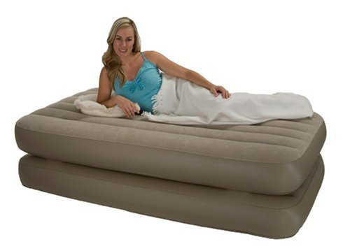 Inflatable Twin Size Raised Air Bed Mattress