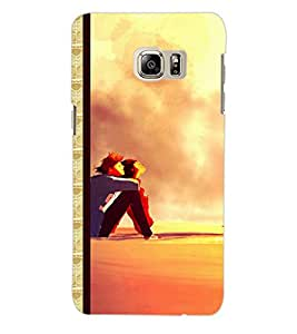ColourCraft Couple Back Case Cover for SAMSUNG GALAXY NOTE 5 EDGE