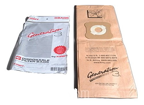 KIrby Upright Generation 3 Paper Bags 3PK # 197289S (Kirby Legend 2 Bags compare prices)