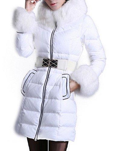 Jo & Jo, semplice a maniche lunghe con cappuccio piumino da donna colore bianco/nero, BLACK-XL, XL