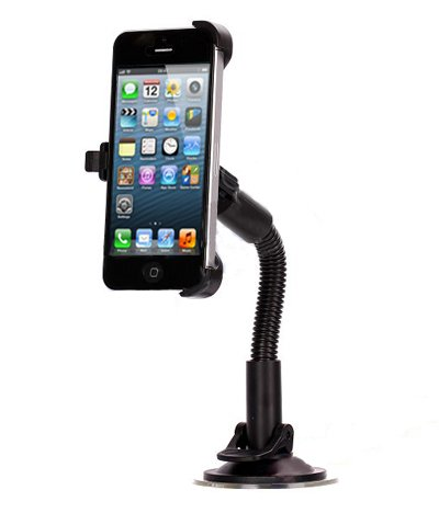 Apple iPhone 5 |5s In-Car Phone Holder Suction Cup Mount Cradle with Rotate Function | Mobile Accessories by iChoose®