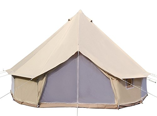 Dream House Diameter 5m Big 4 Season Canvas Cabin Waterproofing Camping Tents with Stove Jack (Tent Stove Jack compare prices)