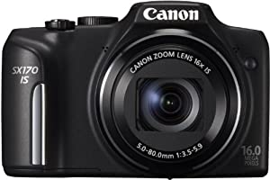 Canon Powershot SX170 IS ( 16.6 MP,16 x Optical Zoom,3 -inch LCD )