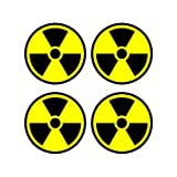 Radiation Nuclear Symbol Sheet of 4 - Window Bumper Sticker