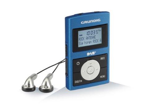 Micro 75 Taschenradio (DAB+ Tuner, RDS) inkl. eingebauter Akku metalic-blau/grau