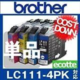 LC111-4PK LC111 ブラザー 用 互換インク 顔料ブラック 単品 【インクのエコッテ】