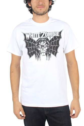 White Zombie - Mens Spider Wing T-Shirt, Size: Medium, Color: White