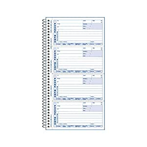 "REDIFORM Telephone Message Book, 2.75 x 5"" 4 per Page, 400 Messages (50076)"